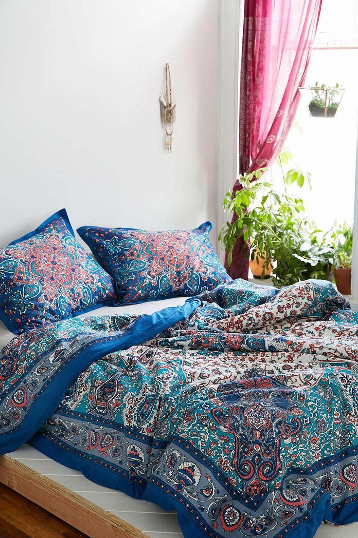 solid sheet set id es d coration chambre pinterest boh me cocon et lits. Black Bedroom Furniture Sets. Home Design Ideas