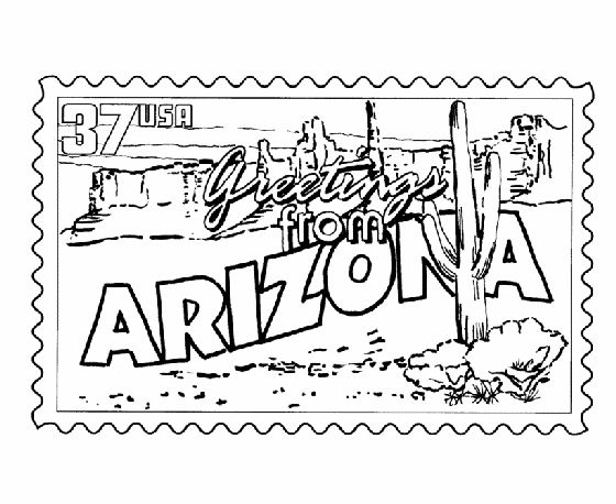 50 best images about greetings from the states on for A z coloring pages