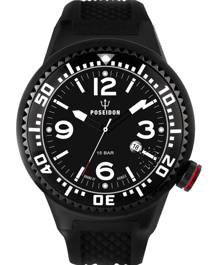 POSEIDON XXL Black Pro Black Silicone Strap Τιμή: 139€ http://www.oroloi.gr/product_info.php?products_id=34096