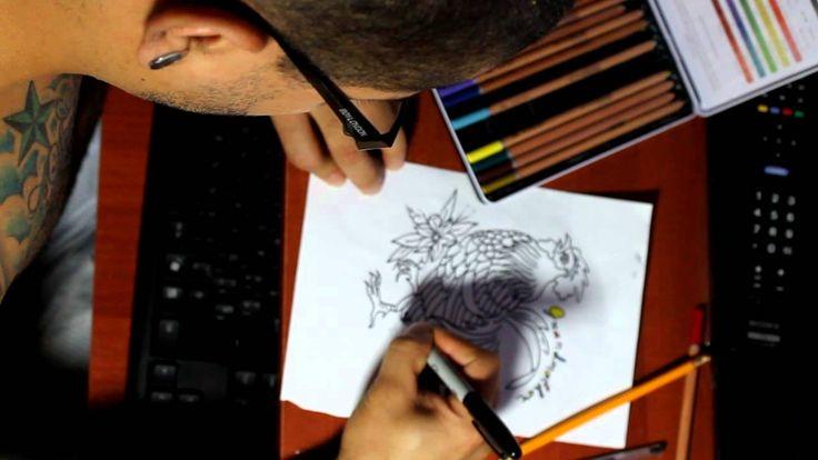 Drawing Late by John Sierra Tattooer