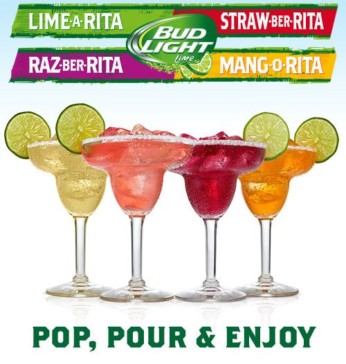 Different recipes for Bud Light Rita drinks