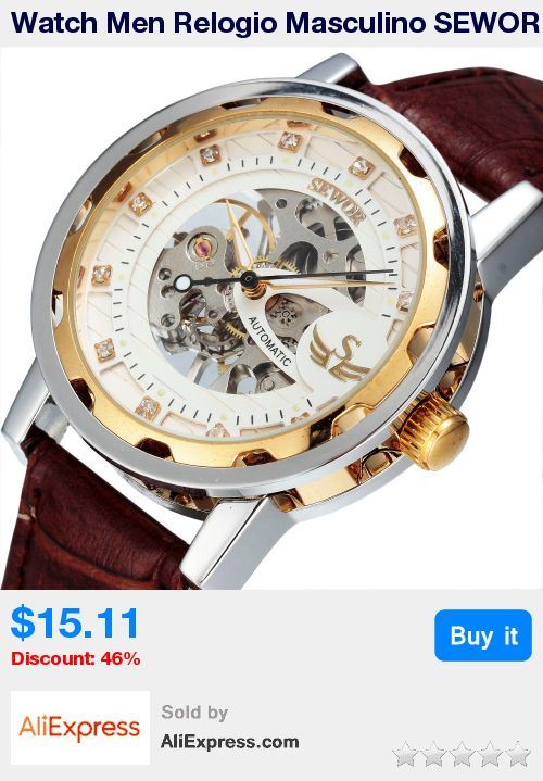 Watch Men Relogio Masculino SEWOR Business Fashion Skeleton Clock Mechanical Hand Wind Military Wristwatch Luxury Watch SWQ13 * Pub Date: 05:29 Oct 22 2017
