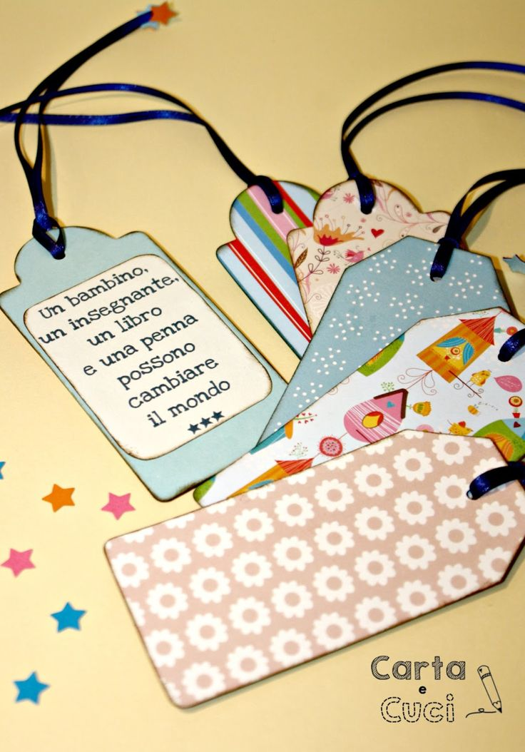 Carta e Cuci: Un pensierino per le Maestre...
