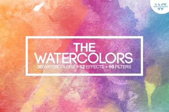 50%OFF WATERCOLOR Textures + Bonus by WG-VISUALARTS on @creativemarket