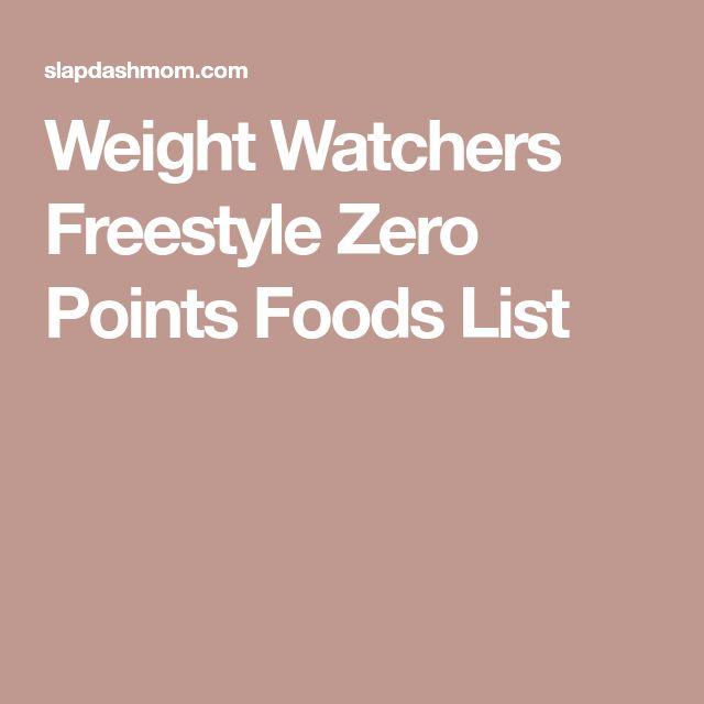 weight watchers points list pdf