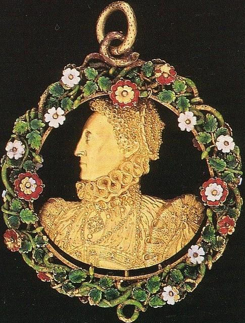1570-75 Queen Elizabeth I The Phoenix Jewel by an Unknown Artist, c.1570-75.