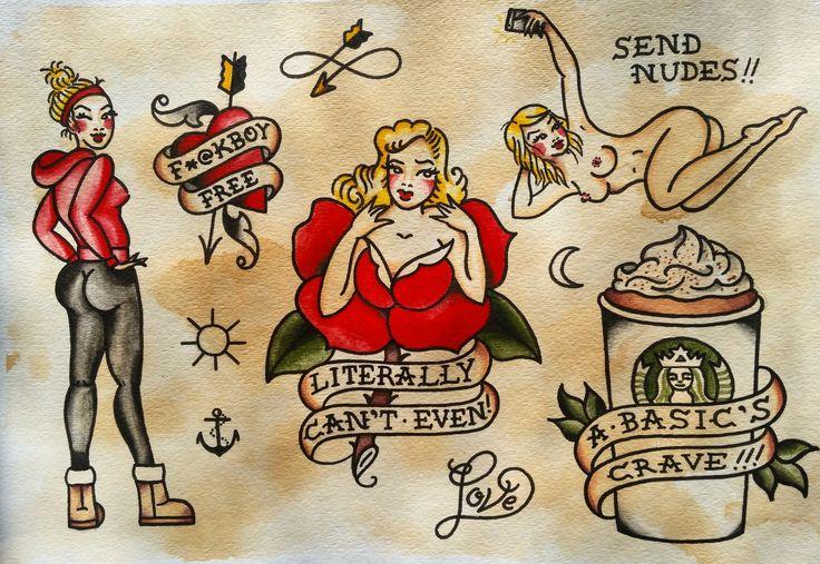Jewels Idette — a 'basic' sailor jerry flash sheet instagram: @...
