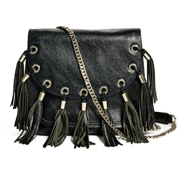 GUESS by Marciano Fringe Saddle Crossbody ($99) ❤ liked on Polyvore featuring bags, handbags, shoulder bags, purses, borse, sac, leather shoulder bag, leather man bags, handbags crossbody and leather handbags