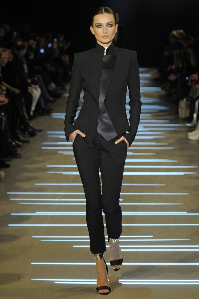 Black pants suit at Alexandre Vauthier Spring Summer Couture 2013 #HauteCouture  #HC #Fashion