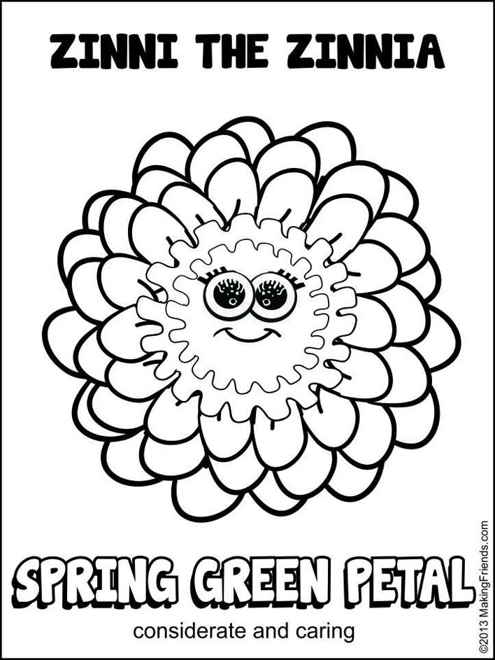 Daisy Girl Scout Spring Green Petal. Considerate and Caring. Print them all! MakingFriends.com for more printables.