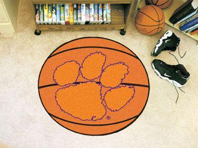 """Clemson Basketball Mat 27"""" diameter"""