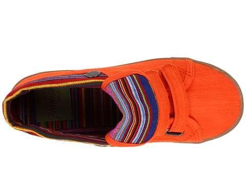fun orange velcro shoes