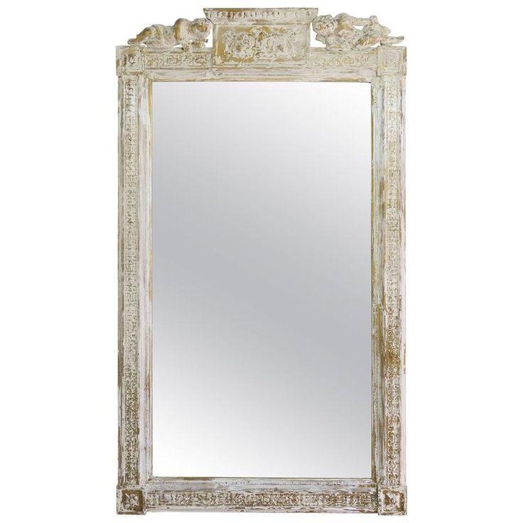 Italienischer Neoklassizistischer Spiegel mit Engeln