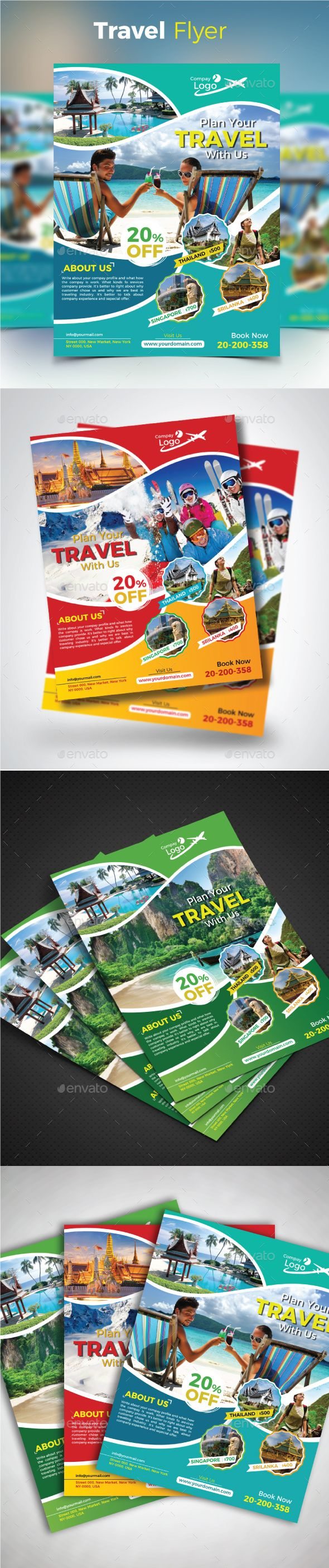 Travel Flyer — Vector EPS #hotel #tour • Available here → https://graphicriver.net/item/travel-flyer/20646689?ref=pxcr