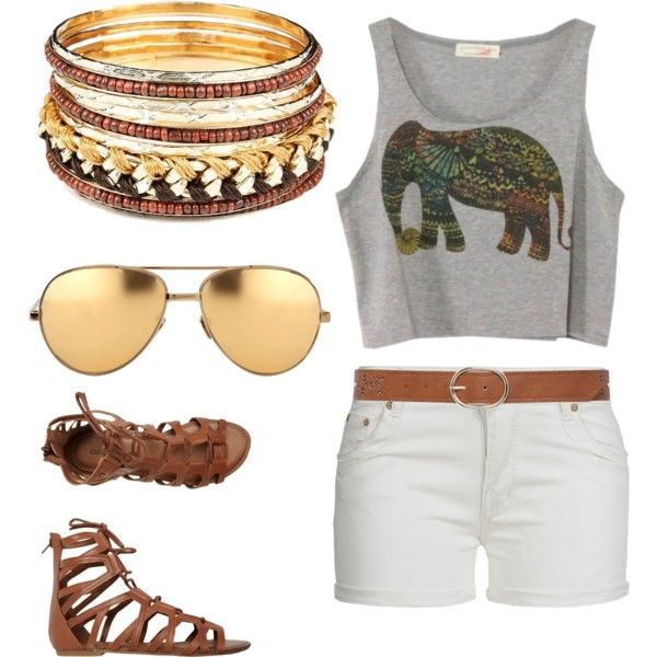 Golden by gracerankcom on Polyvore featuring polyvore fashion style O'Neill Linda Farrow M&Co