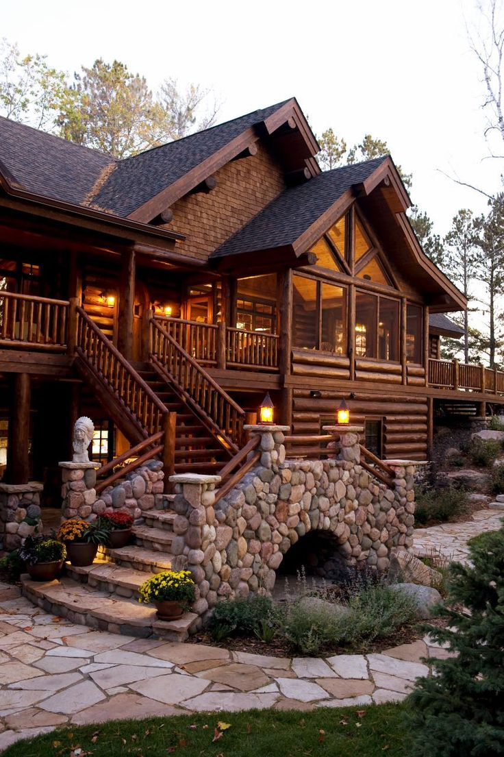Project portfolio of full log lodge home completed…