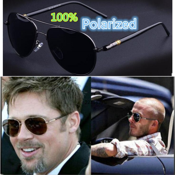 2017 Fashion Brand Designer Luxury Polarized Men Mirror Sunglasses UV400 Classic Vintage Retro Metal Sun Glasses for Men Driving