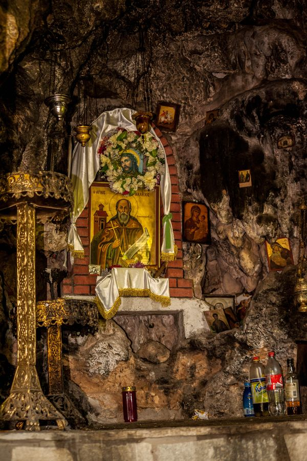 Cave of Agios Akakios the Ascetic, Karditsa, Greece
