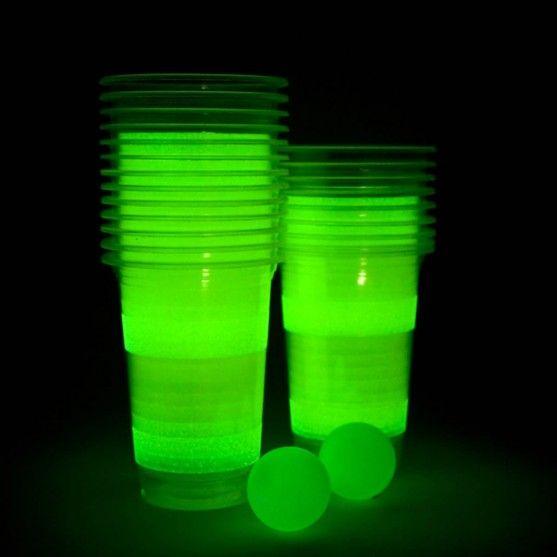 Cibi & Bevande - Birra-Pong Luminoso - Il mitico beer-pong oggi anche nella versione fluorescente per giocare la buio