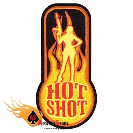 """PARCHE DE TELA CON VELCRO """"HOT SHOT"""" #MORAL #PATCH #HOTSHOT"""