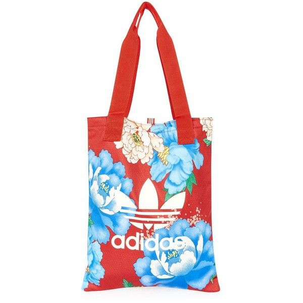 Multi Coloured Shopper Bag by Adidas Originals (€31) ❤ liked on Polyvore featuring bags, handbags, tote bags, multi, white purse, sports tote bag, colorful purses, multi colored handbags and shopping tote