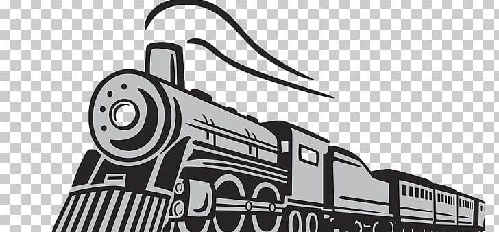 Train Rail Transport Steam Locomotive Png Angle Artwork Balloon Cartoon Black Black And White Rail Transport Steam Locomotive Locomotive