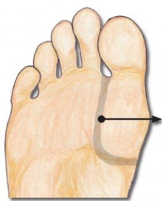 Reflexology Thymus point