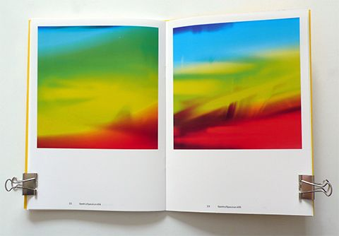 Spettri/Spectra 5/8 - Tonelli design Massimo Gardone interprets the origins on photography following in newton's footsteps. these images describe light radiation, using glass to break the specrtum into unexpected colour components.
