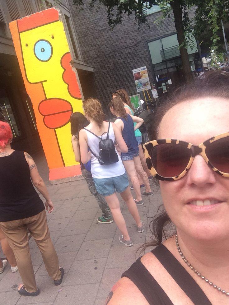 A piece of the Berlin Wall in Frankfurt