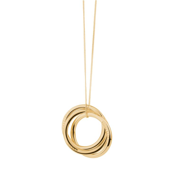 The 'Charlotte' russian ring necklace, gleaming in 24carat gold-plated sterling silver