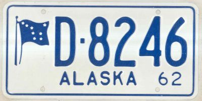1962 license plates for sale