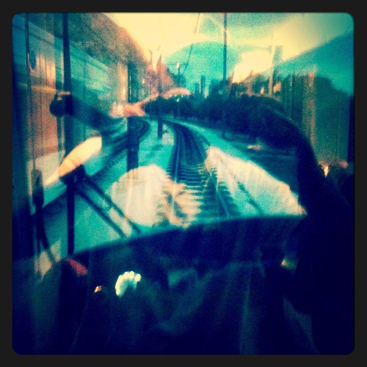 tram vision  interior cabina reflejos frontal