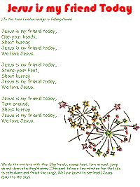 Jesus is My Friend Today color poster