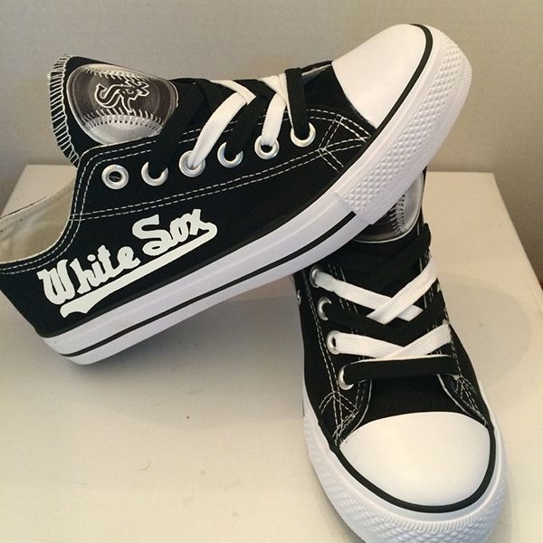 Chicago White Sox Converse Style Sneakers - http://cutesportsfan.com/chicago-white-sox-designed-sneakers/