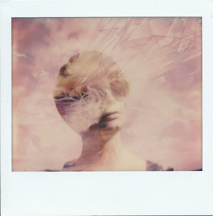 Thoughts of Magritte. Double exposure using Polaroid Spectra and Impossible Project PZ680 film. Copyright Ray Liu 2015