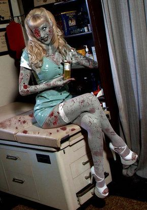 Zombie Nurse? Maybe future Halloween Costume xD Tho, I am not that good with makeup/effects