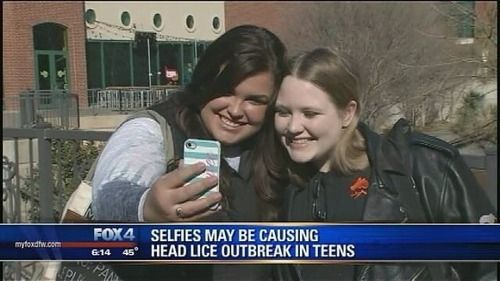The Best of Tumblr...selfies may be causing head lice outbreak in teens lmao