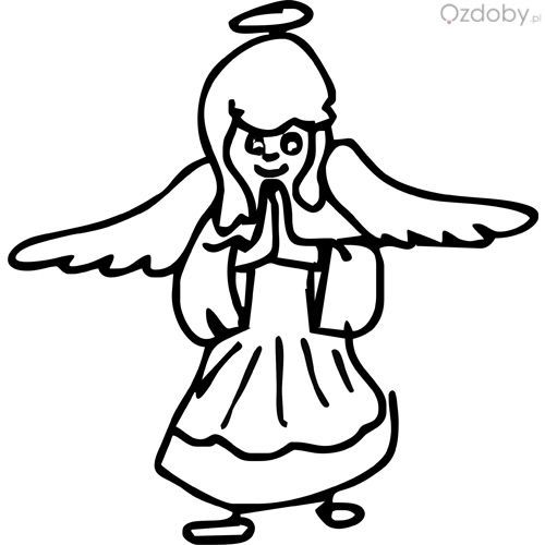Usługi grawerowane - aniołek