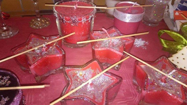 Evelínky svíčky ve tvaru hvězdiček :)