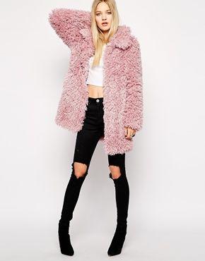 Unreal Fur De-Fur Coat in Dusty Pink ($427) http://www.mtv.com/news/2003887/faux-fur-coats/