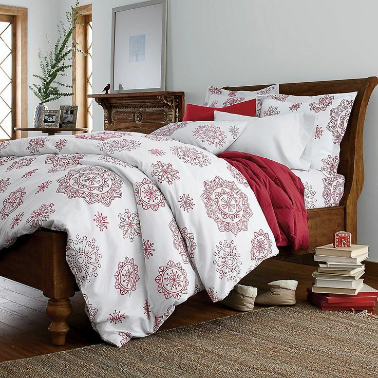 Crystal Snowflake Flannel Sheets Amp Bedding Set The