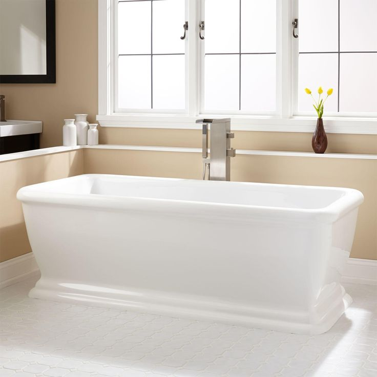 The 25 best acrylic tub ideas on pinterest one piece for Best acrylic tub
