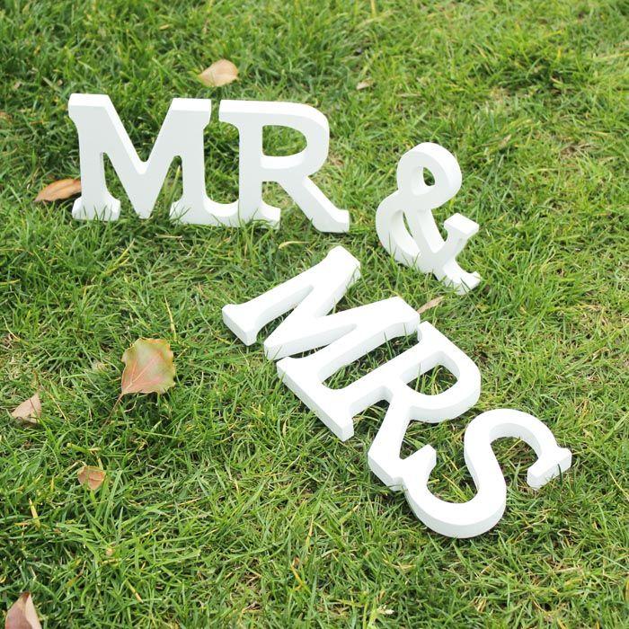 Wedding decorations 3 pcs/set Mr & Mrs romantic mariage decor Birthday Party Decorations Pure White wooden letters wedding sign #ChristmasDecor
