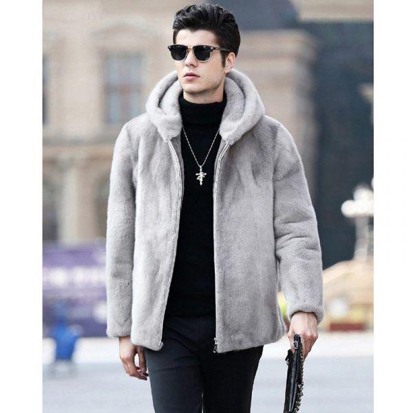2019 New Men S Winter Faux Fur Jacket, Fur Coats Mens Faux