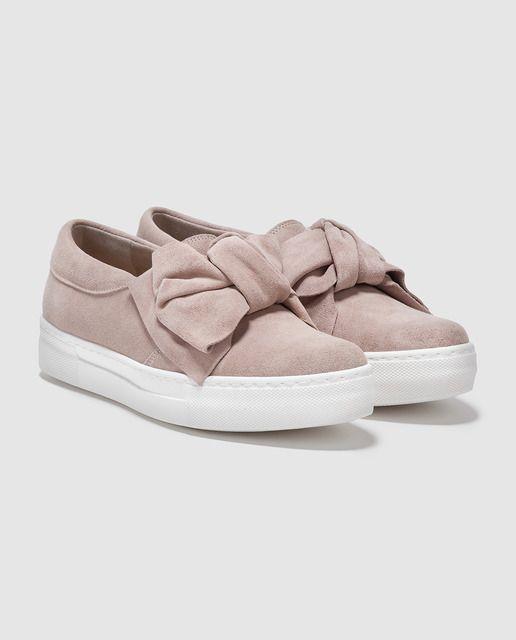 Zapatillas de serraje de mujer Gloria Ortiz rosas