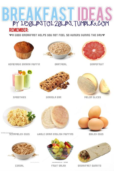 healthy breakfast ideas--I'm always falling into a funk of eating the same thing every day...this might help me visualize some variety.