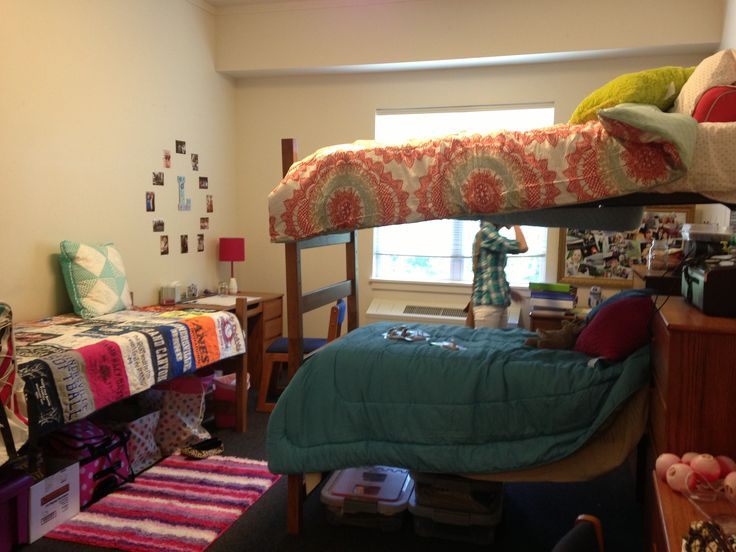 Dorm room at eastern university triple college life pinterest dorm room dorm and - How to decorate a single room ...