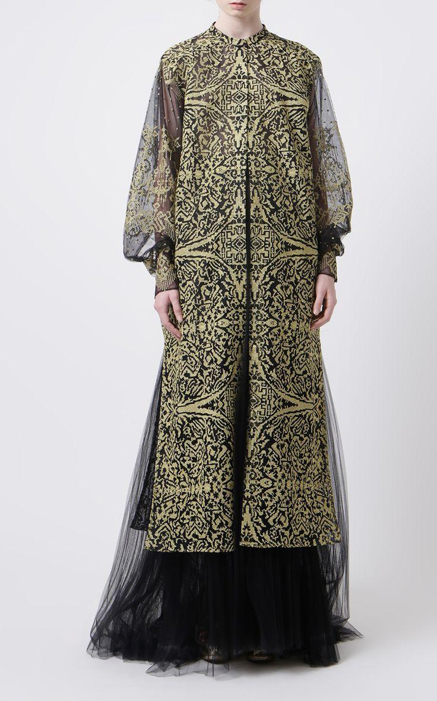 Black/Gold Gringsing Embroidered Dress by SAPTODJOJOKARTIKO for Preorder on Moda Operandi