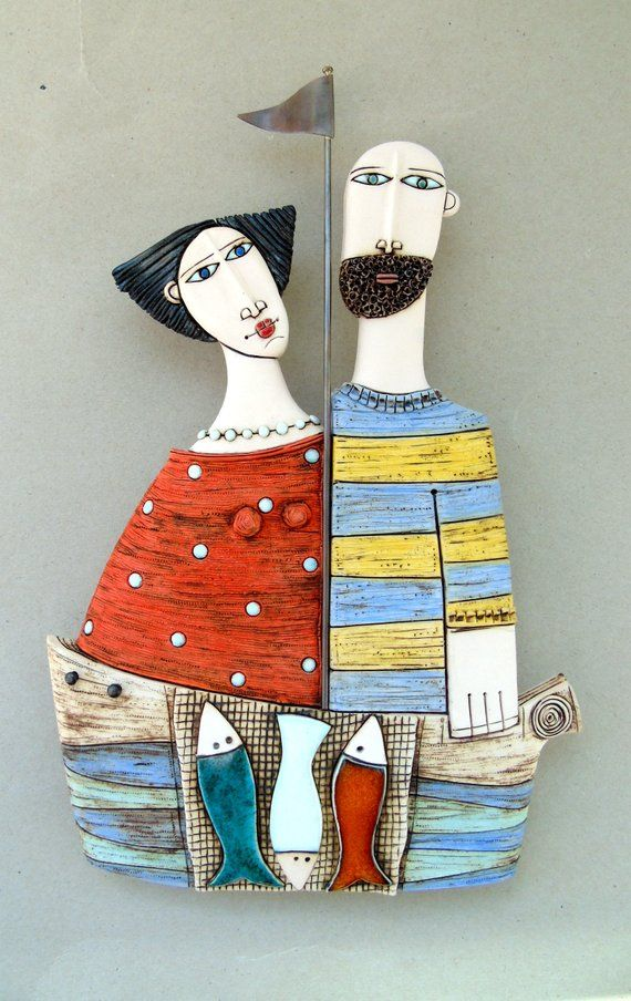 Ceramic Art Ceramic Art Tile Ceramic Sculpture Fine Art Ceramics Wall Hanging Handmade Husband And Wife Ceramic Art Ceramic Sculpture Fine Art Ceramics