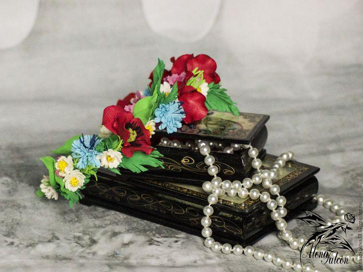 Купить Ободок для волос полевые цветы лето кантри бохо рустик - комбинированный, ободок